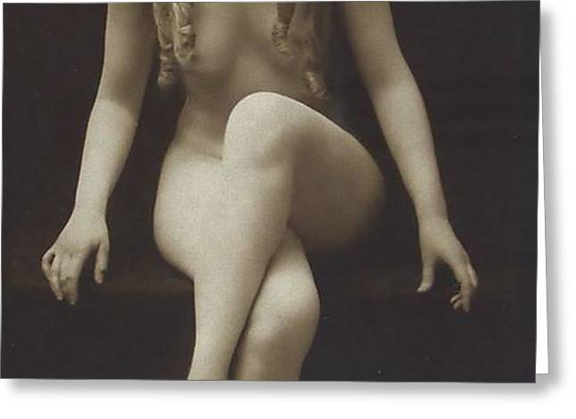 Nude Girl 1915 Greeting Card by Stefan Kuhn