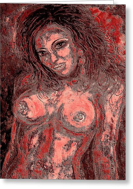 Nude Lady 1 Greeting Card by Natalie Holland