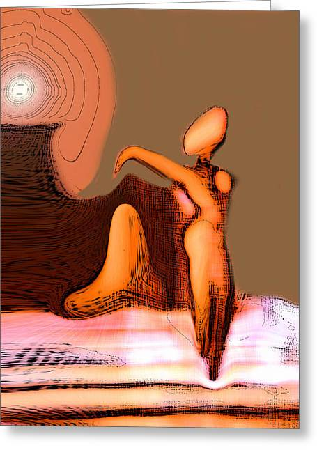 Visionary Artist Greeting Cards - Nude Neoglyph Greeting Card by George  Page