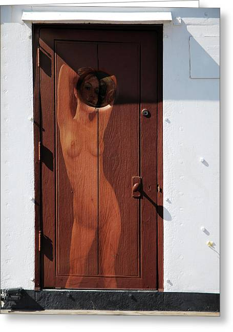 Frontal Nude Greeting Cards - Nude Porthole Greeting Card by Harry Spitz