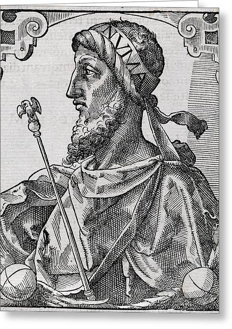 European Artwork Greeting Cards - Numa Pompilius, King Of Rome Greeting Card by Middle Temple Library