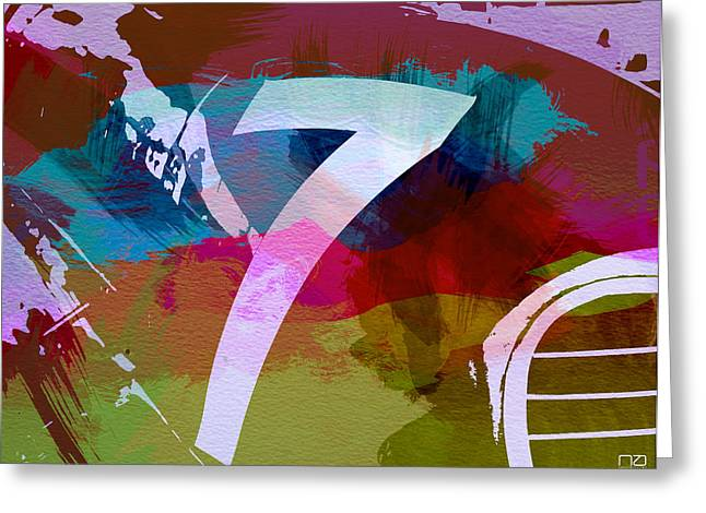 Engine Digital Greeting Cards - Number 7 Greeting Card by Naxart Studio