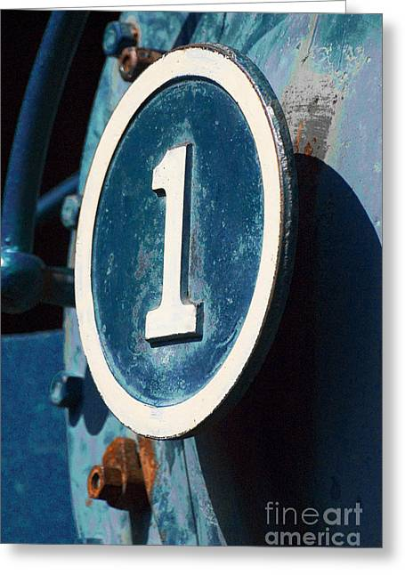 Number One Greeting Cards - Number One Industrial Greeting Card by ArtyZen Studios