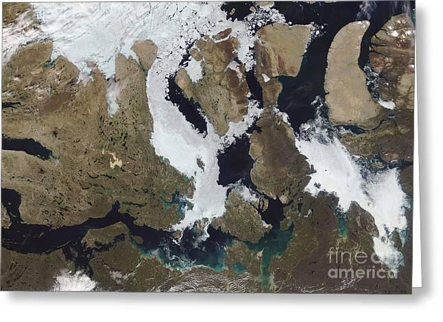 Nunavut Greeting Cards - Nunavut, Canada Greeting Card by Stocktrek Images