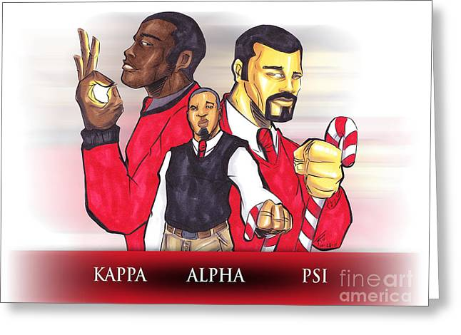 Psi Greeting Cards - Nupes R Us Greeting Card by Tu-Kwon Thomas