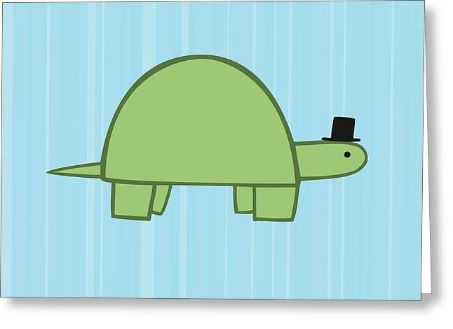 Art For Children Greeting Cards - Nursery Art Boy Turtle Greeting Card by Christy Beckwith