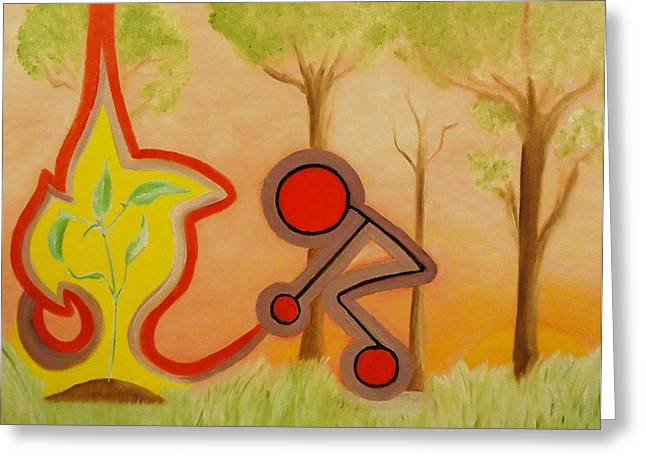 A Symbol Of Health Greeting Cards - Nurture - The act of bringing up. Greeting Card by Cory Green