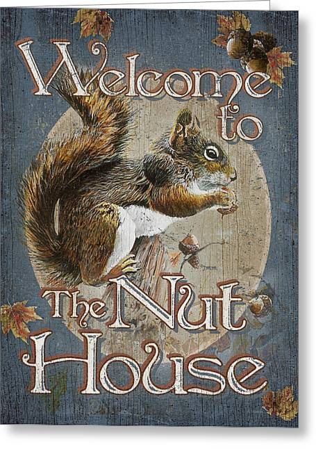 Entry Greeting Cards - Nut House Greeting Card by JQ Licensing
