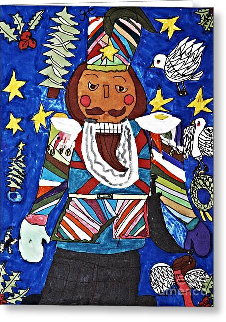 Nutcracker Greeting Card by Stephanie Ward