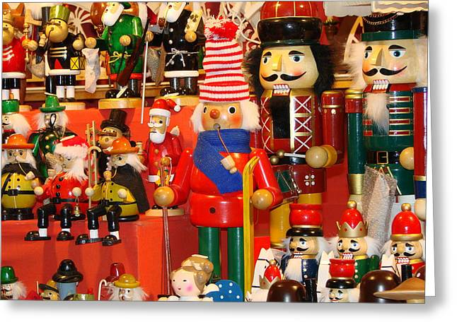 Christmas Market Greeting Cards - Nutcrackers Greeting Card by Martina Thompson