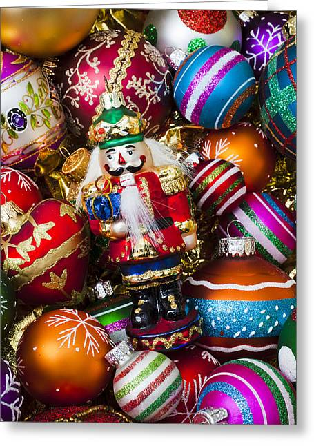 Nutcrackers Greeting Cards - Nutcraker ornament Greeting Card by Garry Gay