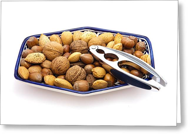 Almonds Greeting Cards - Nuts Greeting Card by Tom Gowanlock