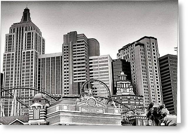 Ny In Lv Greeting Card by Photography Art