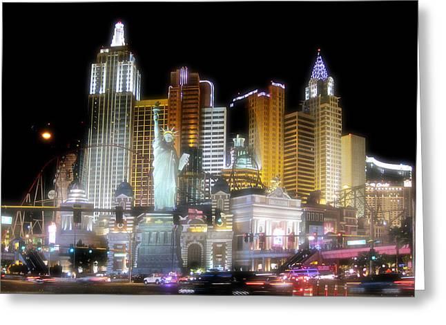 Tropicana Las Vegas Greeting Cards - NY in Vegas Greeting Card by Rod Jones