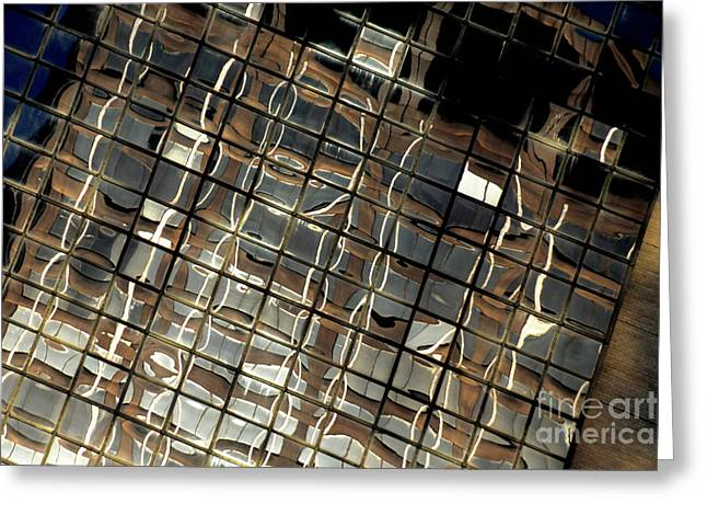 Abtract Greeting Cards - Ny reflection one Greeting Card by Mike Lindwasser Photography