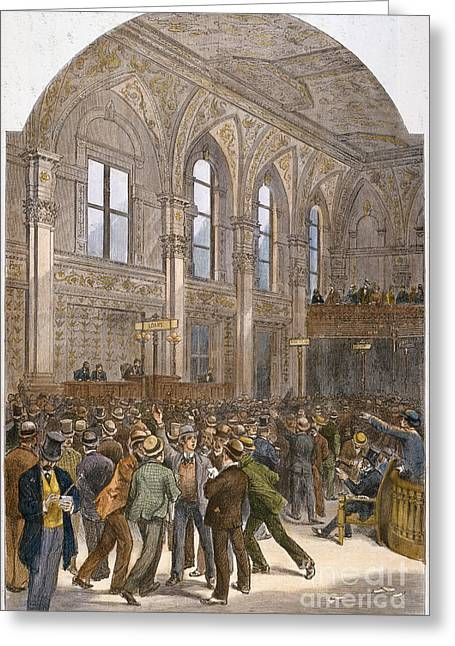 Stockbroker Greeting Cards - Ny Stock Exchange, 1881 Greeting Card by Granger
