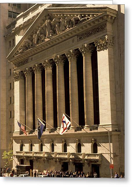 Enterprise Photographs Greeting Cards - NY Stock Exchange Greeting Card by Gerard Fritz