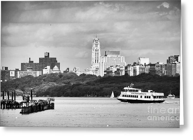 Photo Art Gallery Greeting Cards - NY Waterway Greeting Card by John Rizzuto
