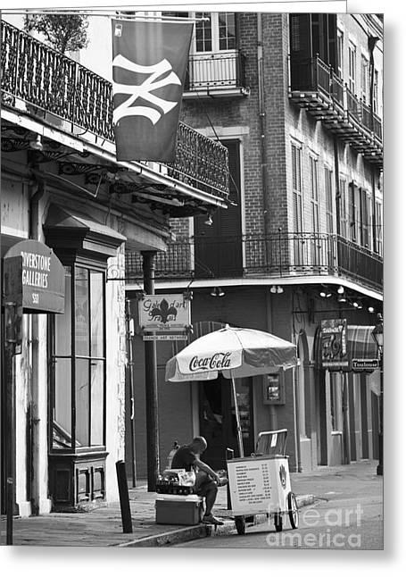Ledaphotography.com Greeting Cards - NY Yankees on Royal Street Greeting Card by Leslie Leda