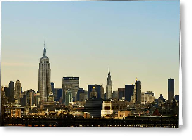 Times Square Digital Art Greeting Cards - Nyc Greeting Card by Bill Cannon
