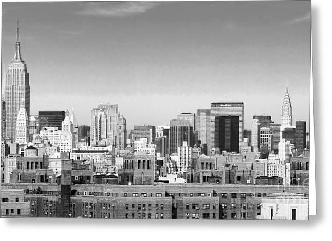 Nyc Bw Greeting Card by Chuck Kuhn