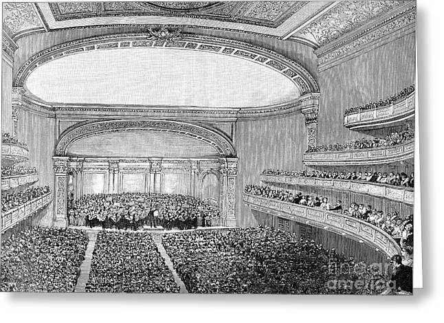Symphony Hall Greeting Cards - Nyc: Carnegie Hall, 1891 Greeting Card by Granger