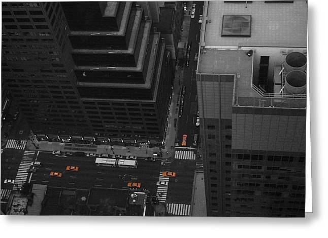 Intersection Greeting Cards - NYC from the Top 1 Greeting Card by Naxart Studio