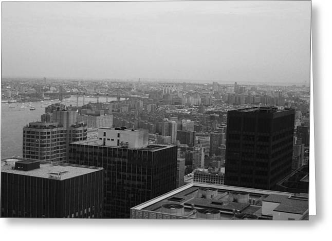Intersection Greeting Cards - NYC from the Top 2 Greeting Card by Naxart Studio