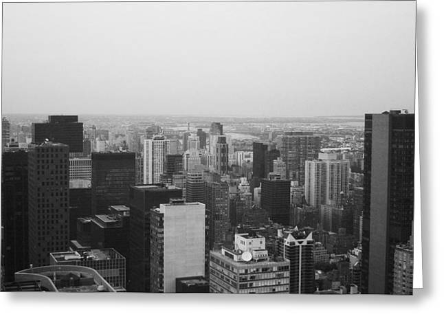 Manhattan Greeting Cards - NYC from the Top 3 Greeting Card by Naxart Studio