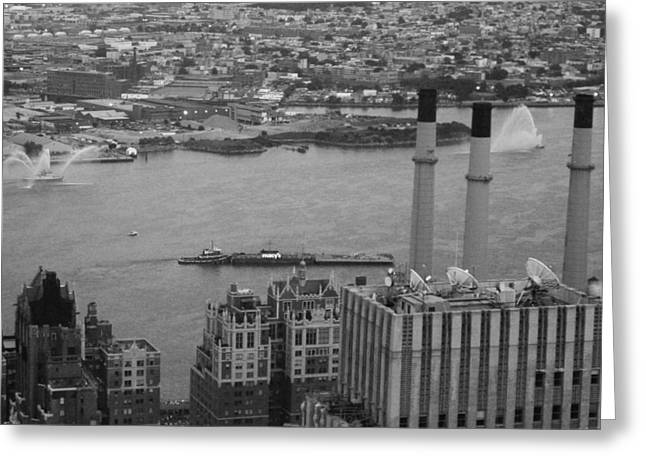 Yellow Cab Greeting Cards - NYC from the Top 4 Greeting Card by Naxart Studio