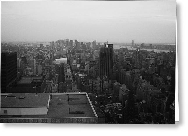 Manhattan Greeting Cards - NYC from the Top 5 Greeting Card by Naxart Studio