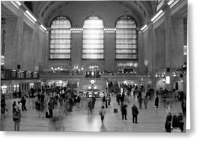 People Digital Greeting Cards - NYC Grand Central Station Greeting Card by Mike McGlothlen