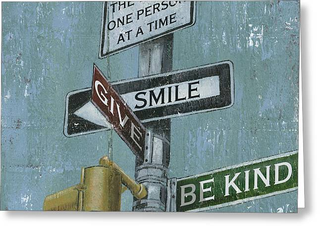 Street Lights Greeting Cards - NYC Inspiration 1 Greeting Card by Debbie DeWitt
