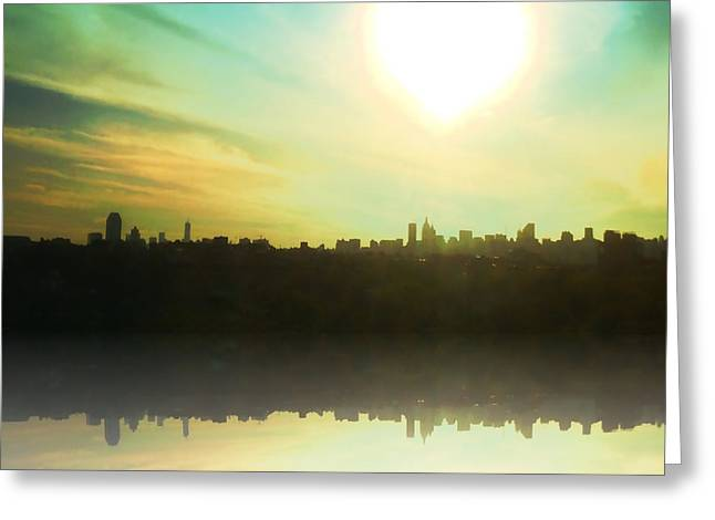 Nyc Light Of Lights Greeting Card by Christine Segalas