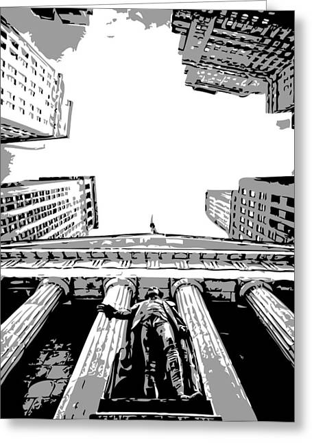 Capital Of The Universe Greeting Cards - NYC Looking Up BW3 Greeting Card by Scott Kelley