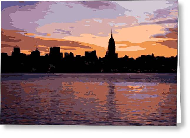 The Capital Of The World Greeting Cards - NYC Morning Color 16 Greeting Card by Scott Kelley