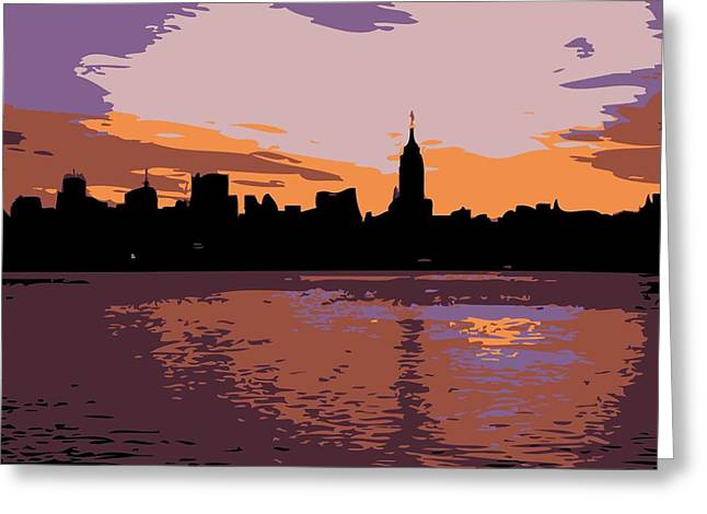 The Capital Of The World Greeting Cards - NYC Morning Color 6 Greeting Card by Scott Kelley