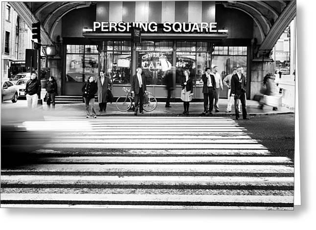 Pershing Greeting Cards - NYC Pershing Square Greeting Card by Nina Papiorek