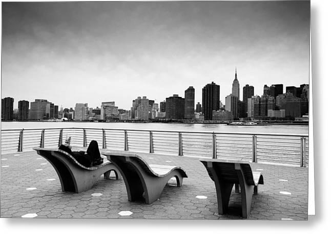 NYC Relax Greeting Card by Nina Papiorek