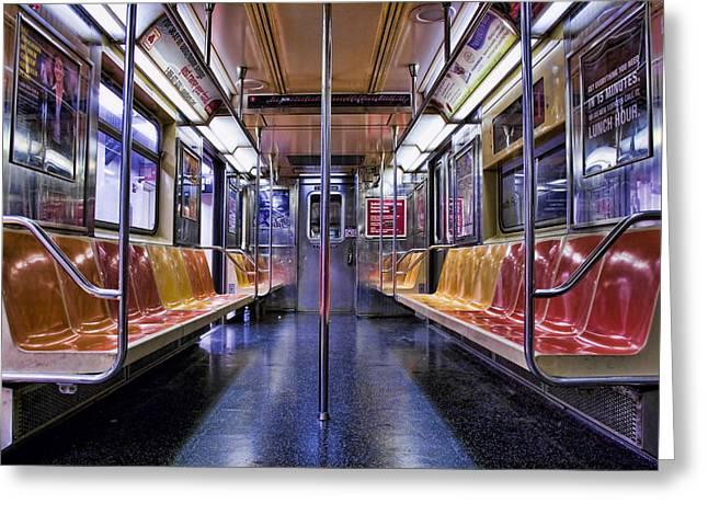 Subway Greeting Cards - NYC Subway Greeting Card by Kelley King