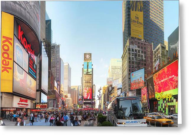 Popular Art Greeting Cards - NYC Times Square Greeting Card by Yhun Suarez