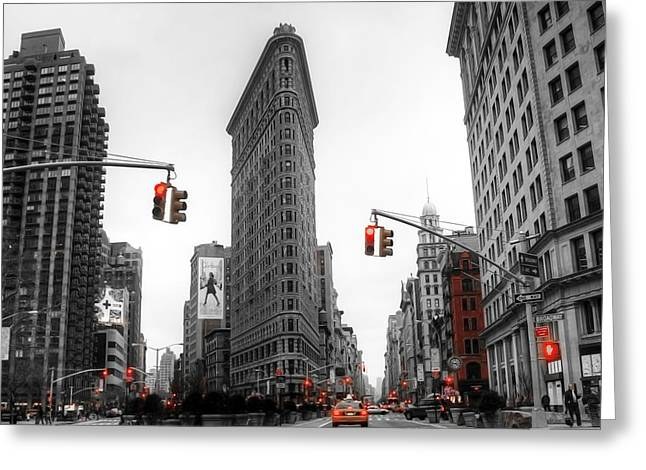 Busy Life Greeting Cards - Nyc015 Greeting Card by Svetlana Sewell