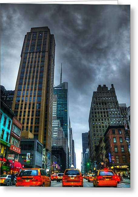 Busy Life Greeting Cards - Nyc016 Greeting Card by Svetlana Sewell