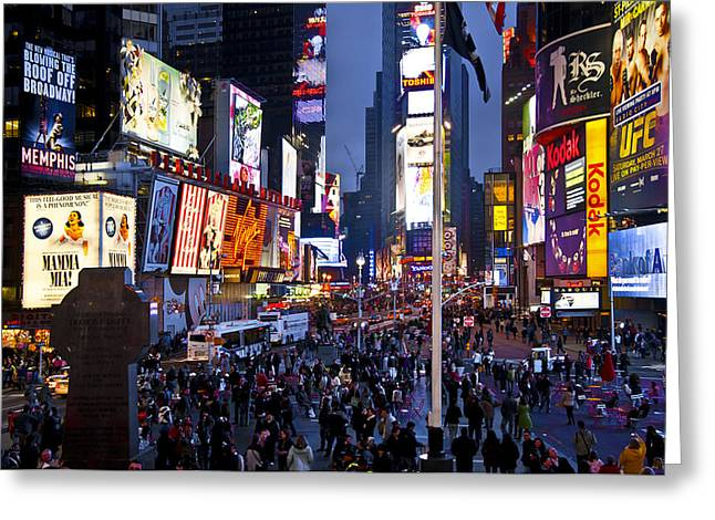 Busy Life Greeting Cards - Nyc025 Greeting Card by Svetlana Sewell