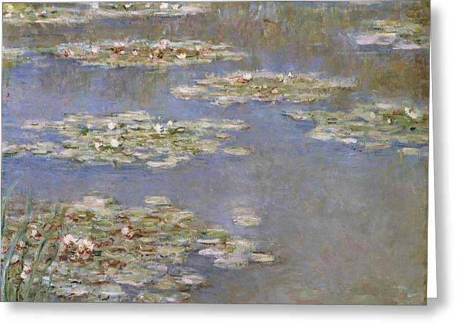 Impressionism Greeting Cards - Nympheas Greeting Card by Claude Monet