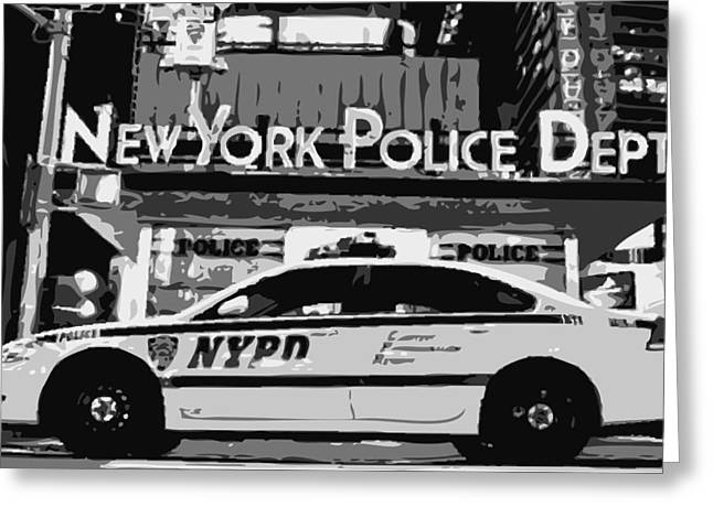 I Heart Ny Greeting Cards - Nypd Bw8 Greeting Card by Scott Kelley