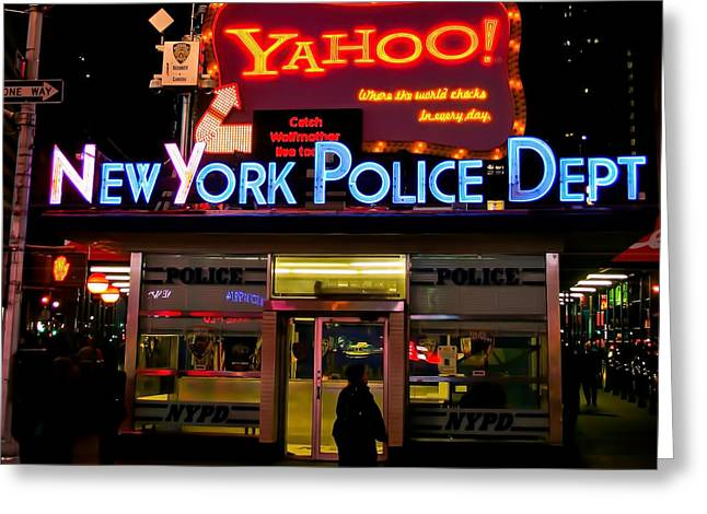 Law Enforcement Greeting Cards - NYPD Station Greeting Card by Michel Soucy