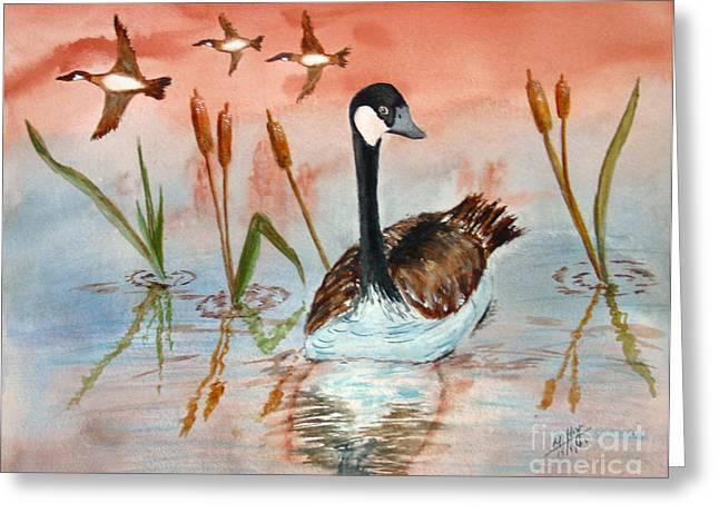 Canada Goose Greeting Cards - O Canada Greeting Card by Mohamed Hirji