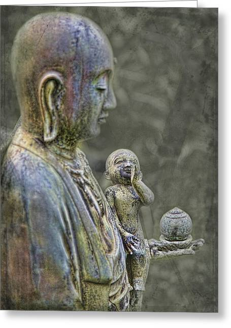 Karen Walzer Greeting Cards - O-Jizo-Sama  Greeting Card by Karen Walzer