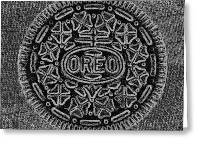 Oreo Greeting Cards - O R E O in ACID WASH Greeting Card by Rob Hans